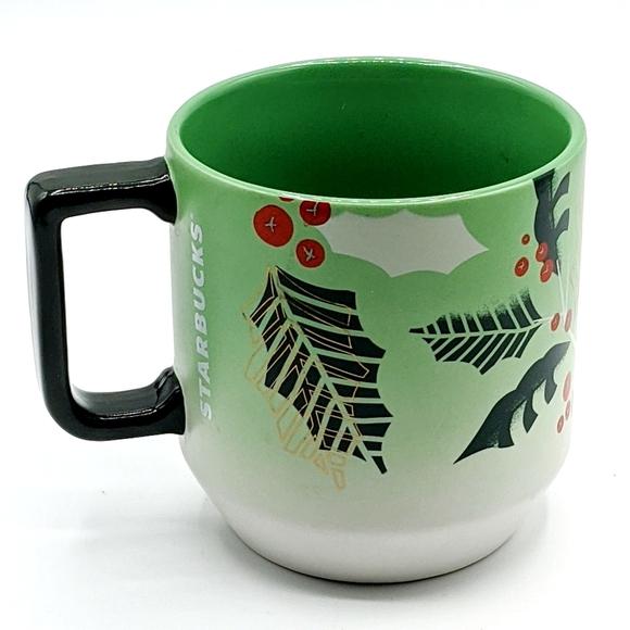 Starbucks Christmas Mug Coffee Cup Holly Berries